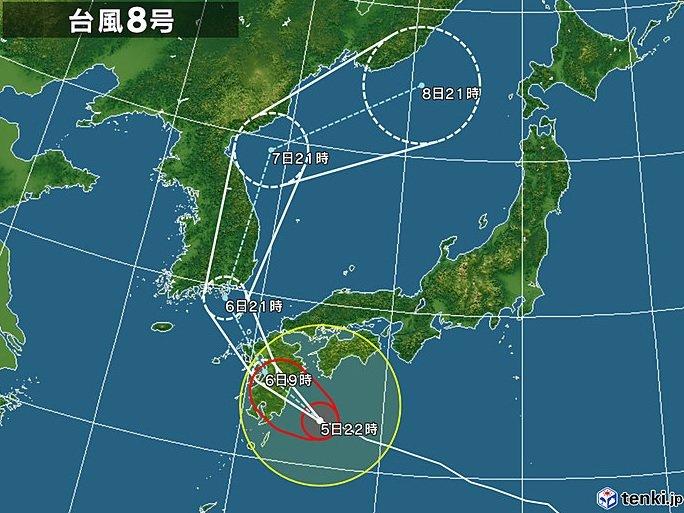 6日未明から明け方 九州上陸へ