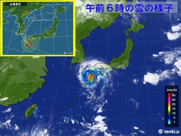 宮崎で最大瞬間風速40メートル近く 滝のような雨も