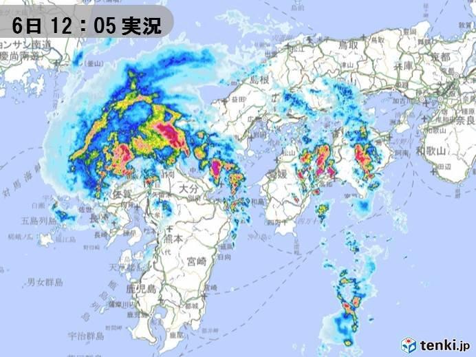 台風8号 九州北部を通過中 四国にも発達した雨雲