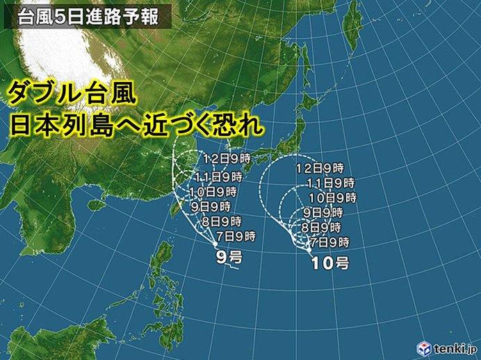 大型で強い台風9号