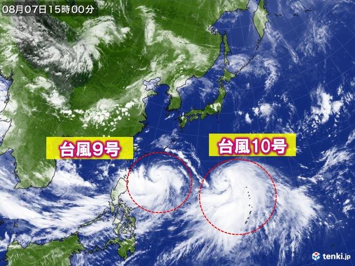 台風10号 発達し北上