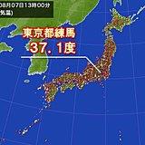 きょうも各地で猛暑日 東京都内で今年初の37度超