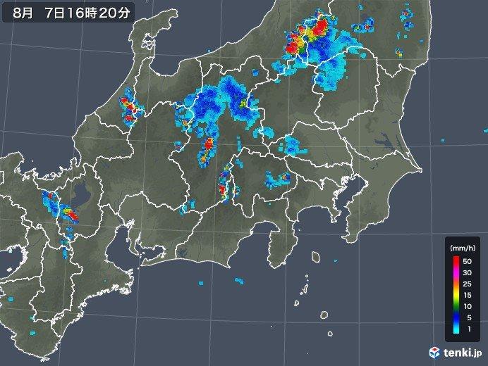 各地で雨雲発達中 落雷多発_画像