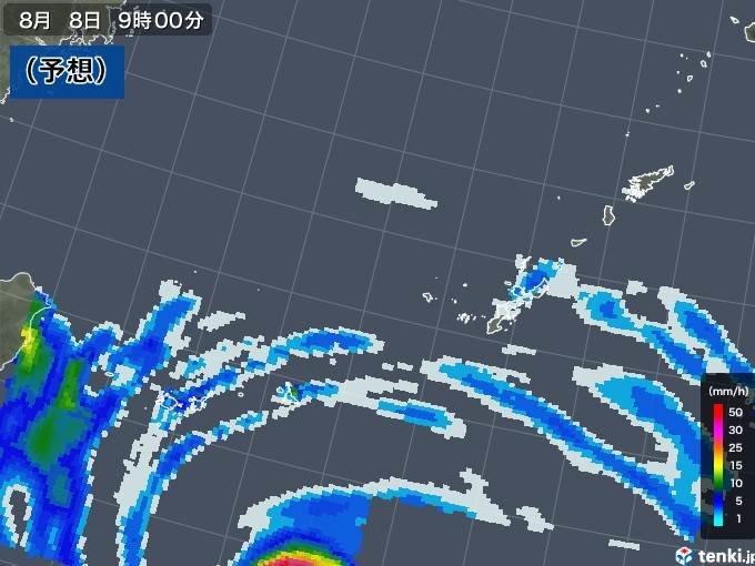 8日 台風9号は沖縄、元台風は北海道へ 本州は猛暑_画像