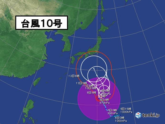 台風10号「大型」