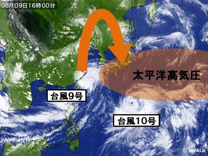 台風10号 ほとんど停滞