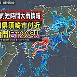 高知県で約120ミリ 記録的短時間大雨