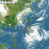 台風10号 盆休後半に西日本上陸か Uターン直撃も