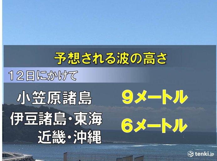 小笠原は今夜から高波警戒