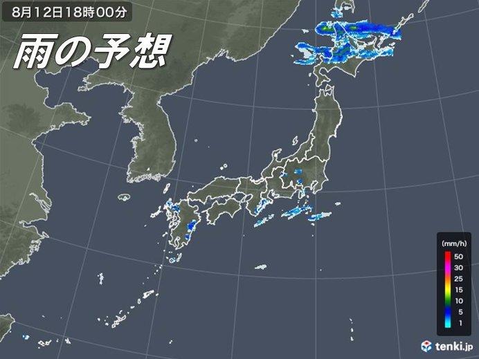 きょうの天気 局地的な雨に注意