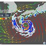 台風 あすから非常に激しい雨 15日は雨も風も猛烈