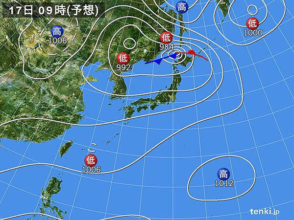 西日本通過後は北日本へ