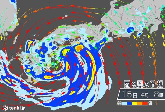 台風10号上陸へ 広く大荒れ 各地のピークは