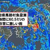 台風 中心の東側 四国などで非常に激しい雨