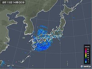 総雨量1200ミリ超え 台風10号警戒期間
