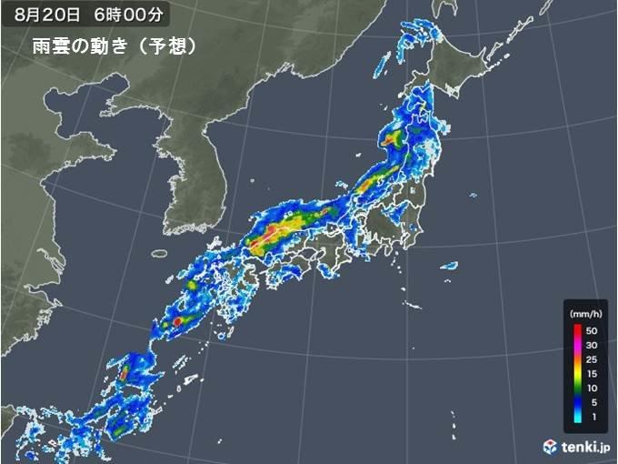 火曜 日本海側も激しい雨注意