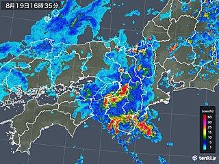 京都で川の水位急上昇 近畿は今夜も滝のような雨警戒