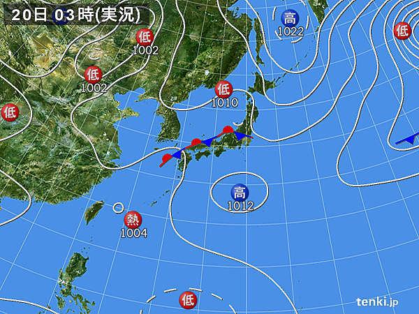 九州で滝のような雨 活発な雨雲があちらこちらに_画像