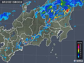 関東甲信 活発な雨雲かかる 土砂災害に警戒