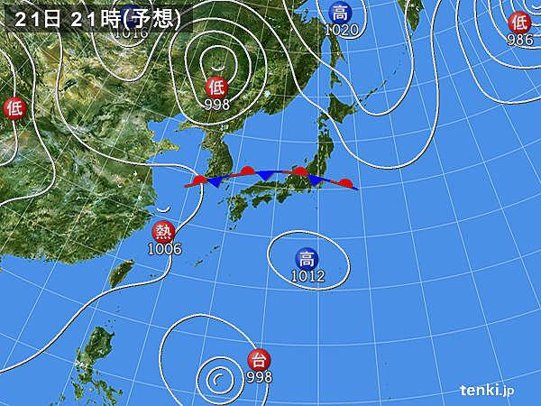 台風発生か