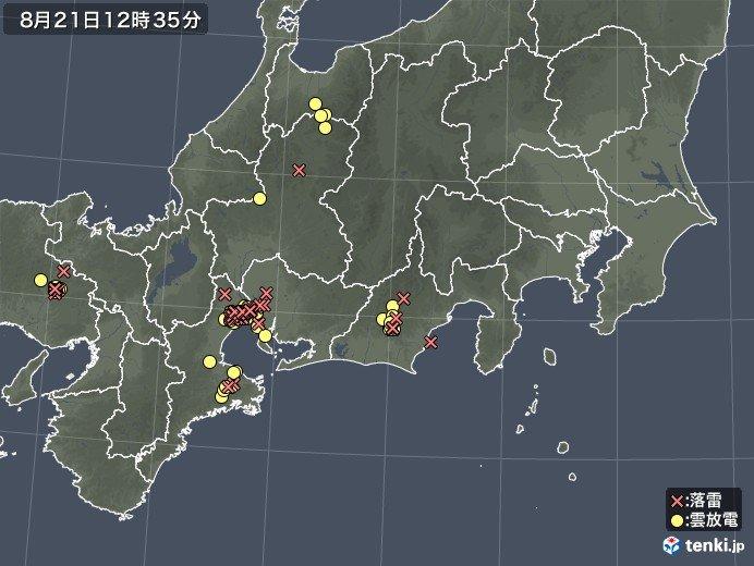 お昼前から近畿・東海などで局地的にザーザー降りの雨