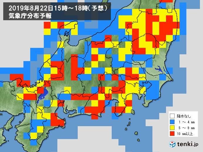 午後には 関東地方でも発達した雨雲かかる
