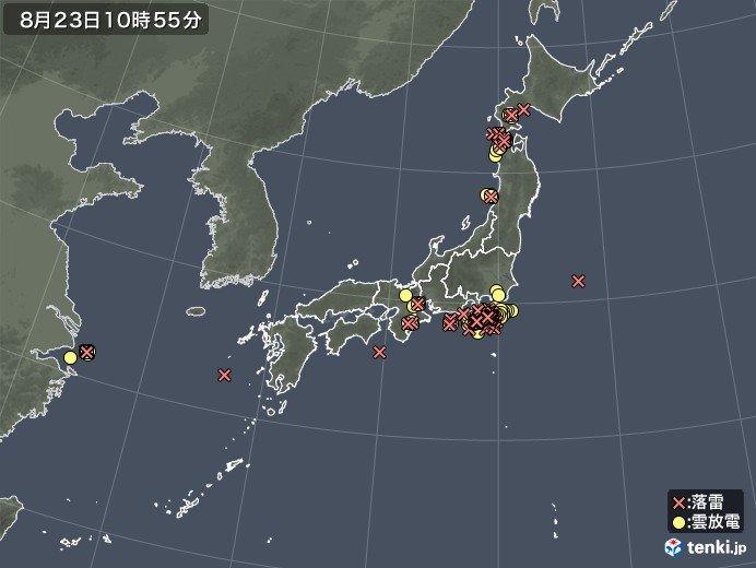 北陸の雨200ミリ超 日本付近に発達した雨雲_画像