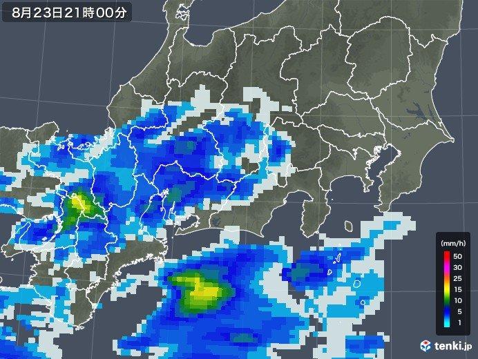 東海 名古屋周辺に発達した雨雲 土砂災害に警戒_画像