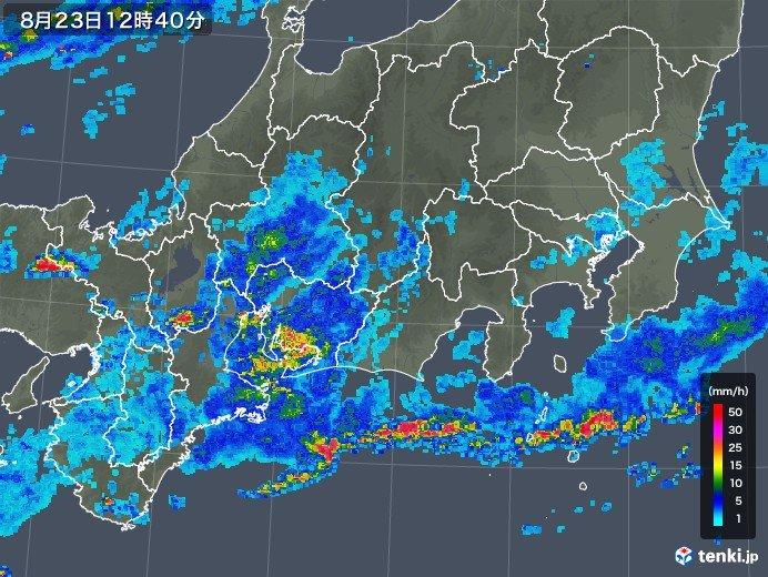 東海 名古屋周辺に発達した雨雲 土砂災害に警戒
