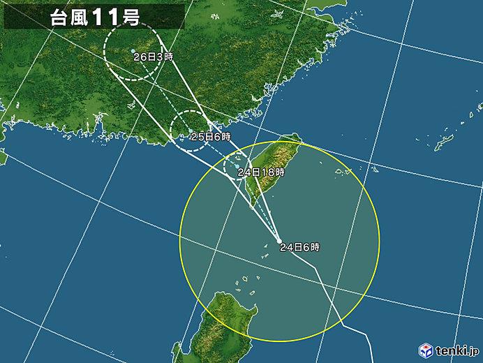 台風11号 石垣島など先島諸島に接近