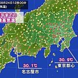都心や名古屋で真夏日戻る 関東や東海で気温アップ