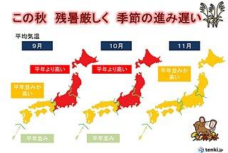 秋遠のく 9月に猛暑 続く台風シーズン 3か月予報