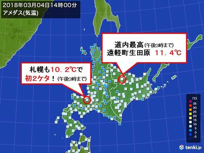 北海道 遅くて早い初10度!
