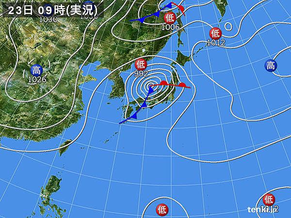 関東 最大瞬間風速20メートル超