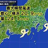 関東も強風 東京都心など最大瞬間風速20メートル超