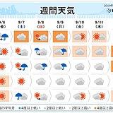 週間 台風13号あす沖縄本島に接近 南で台風発生へ