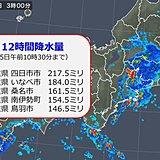 半日で9月分約9割の大雨 きょうも太平洋側 雨注意