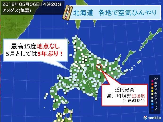 北海道 5年ぶりのひんやり空気