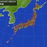 台風15号 気温にも影響 新潟県で38.0度
