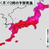 9日(月) 台風だけでなく暑さにも警戒