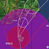 台風15号記録的な暴風のおそれ 暴風や停電に備えて
