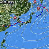 5日 激しい雷雨 気温急降下