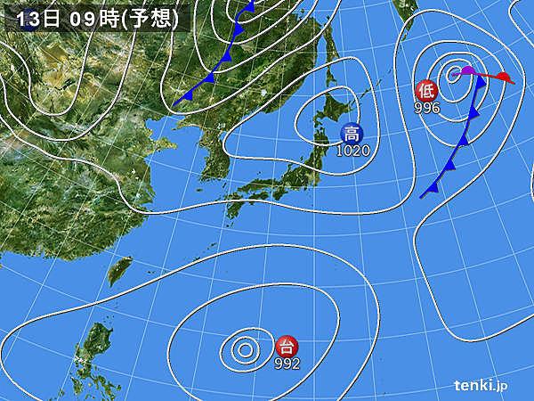 あさって13日(金)以降 九州~東北 3連休は青空が広がる日あり