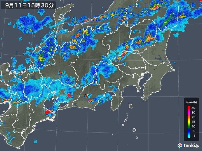 首都圏でも激しい雨に注意
