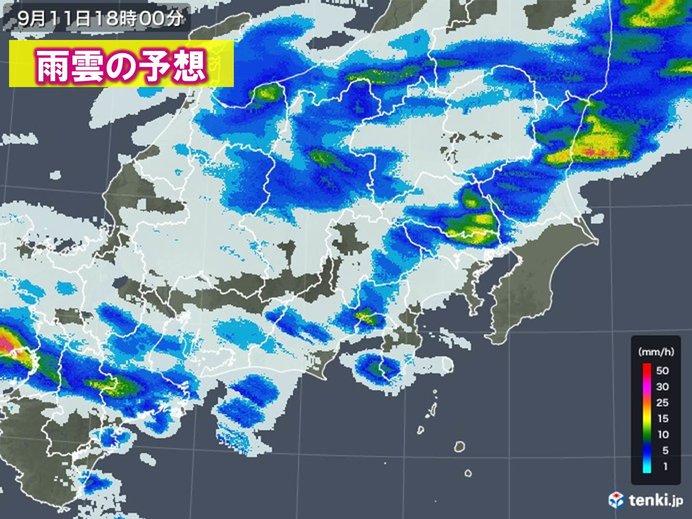 京阪神に活発な雷雲 首都圏も帰宅時に激しい雷雨注意_画像