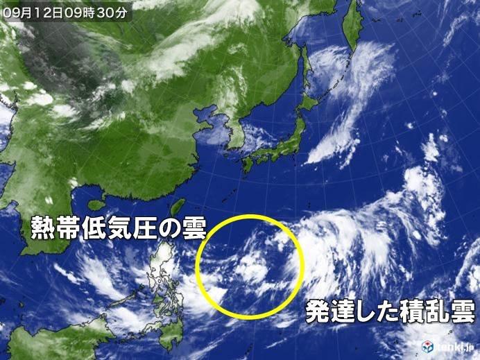 フィリピンの東で台風発生へ