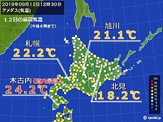 2か月半ぶり 北海道で2日連続夏日なし