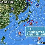 北海道 連休最終日の天気