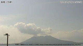 16日から桜島で噴火回数が増加