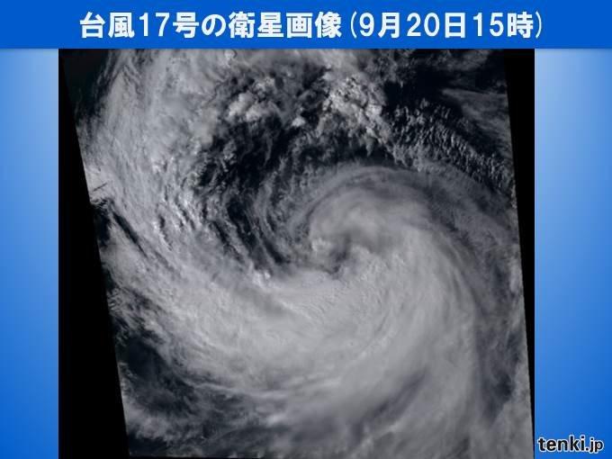 台風17号は「大型」 特徴と三連休の警戒点